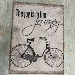 "Canvas Print ""the joy is in the journey"" 12 x 16"